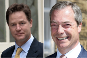 The main characters; Nick Farage and Nigel Clegg.
